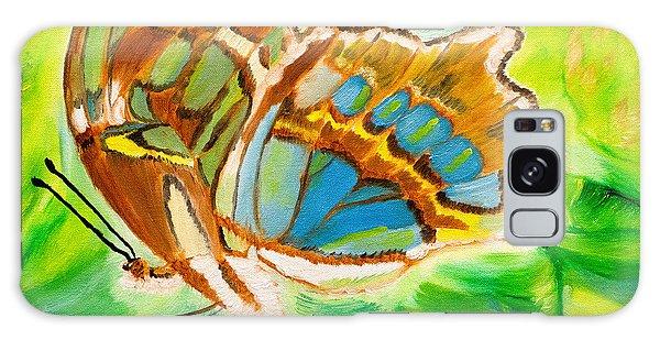Malachite Butterfly Delight Galaxy Case
