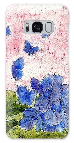 Butterflies Or Hydrangea Flower, You Decide Galaxy Case