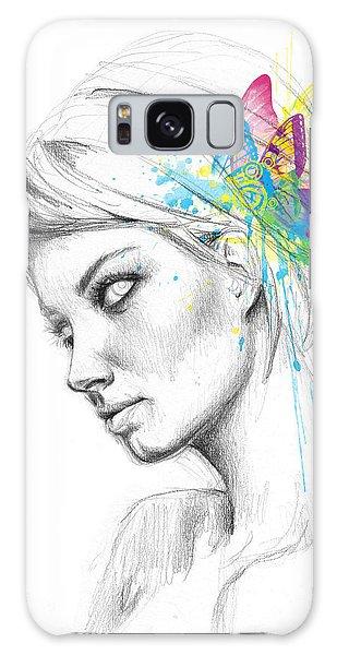 Fairy Galaxy S8 Case - Butterfly Queen by Olga Shvartsur