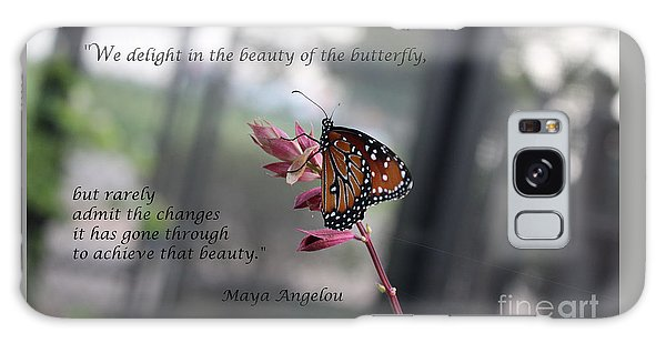 Butterfly Quote Art Print Galaxy Case