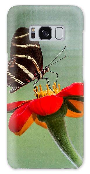 Butterfly Zebra Longwing On Zinnia Galaxy Case