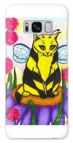Buzz Bumble Bee Fairy Cat Galaxy Case by Carrie Hawks