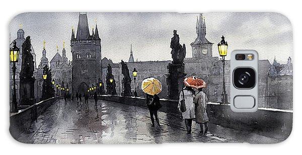 Old Galaxy Case - Bw Prague Charles Bridge 05 by Yuriy Shevchuk