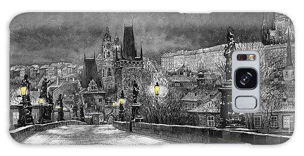 Old Galaxy Case - Bw Prague Charles Bridge 06 by Yuriy Shevchuk