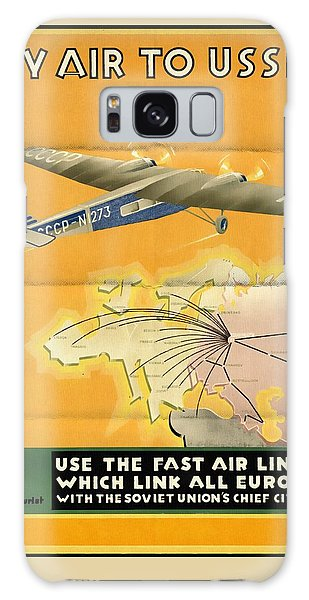 By Air To Ussr With The Soviet Union's Chief Cities - Vintage Poster Folded Galaxy Case