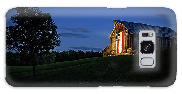 Old Glory By Dusks Early Light Galaxy Case