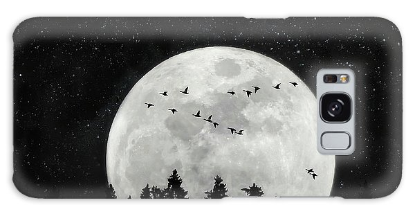 By The Light Of The Silvery Moon - Birds  Galaxy Case