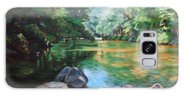 By The River Galaxy Case by Bonnie Mason