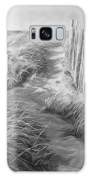 Scenery Galaxy Case - By The Sea - Black And White by Lucie Bilodeau