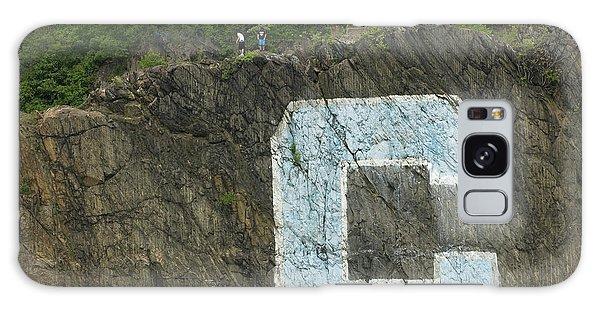 C Rock Of Columbia University Galaxy Case