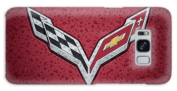 C7 Badge Red Galaxy Case