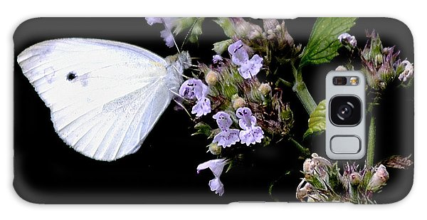 Cabbage White On Catnip Galaxy Case