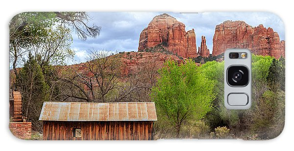 Galaxy Case featuring the photograph Cabin At Cathedral Rock by James Eddy