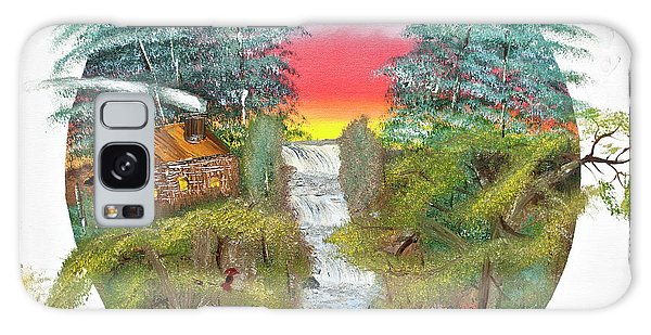 Cabin By The Falls Galaxy Case