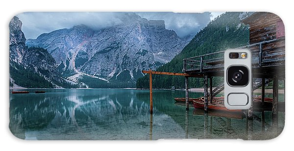 Cabin By The Lake Galaxy Case