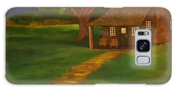 Cabin By The Water Galaxy Case by Christy Saunders Church