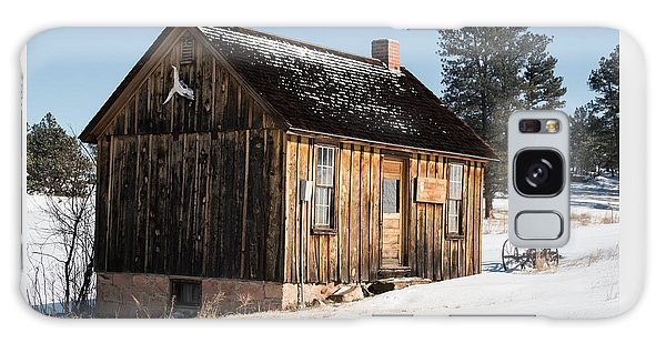 Cabin In The Snow Galaxy Case