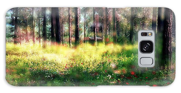 Cabin In The Woods In Menashe Forest Galaxy Case
