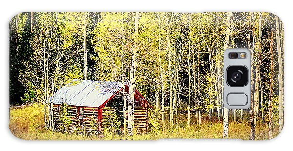 Cabin In The Golden Woods Galaxy Case by Karen Shackles