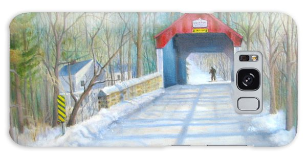 Cabin Run Bridge In Winter Galaxy Case by Oz Freedgood