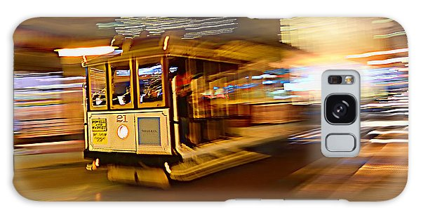 Cable Car At Light Speed Galaxy Case by Steve Siri