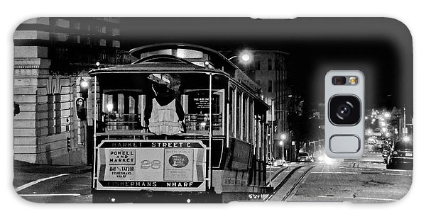 Cable Car At Night - San Francisco Galaxy Case