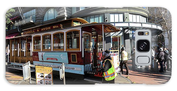 Cable Car At Union Square Galaxy Case by Steven Spak