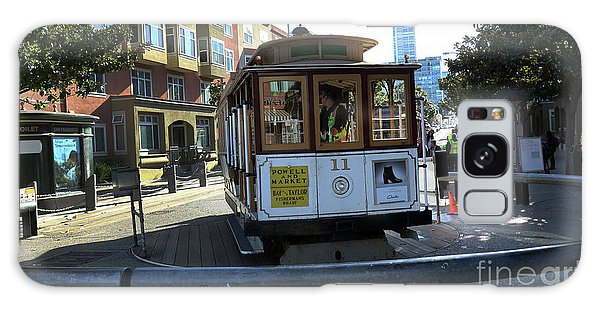 Cable Car Turnaround Galaxy Case