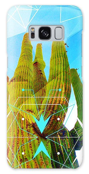 Galaxy Case featuring the mixed media Cacti Embrace by Michelle Dallocchio
