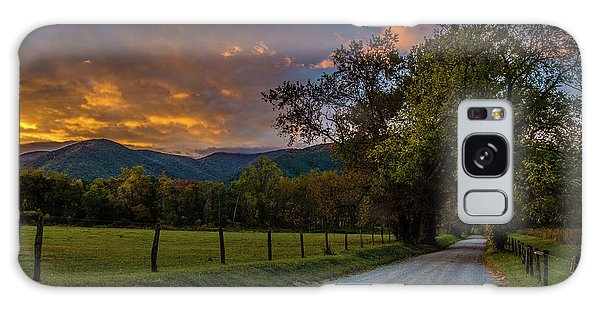 Galaxy Case featuring the photograph Cades Cove Sunrise by Michael Sussman