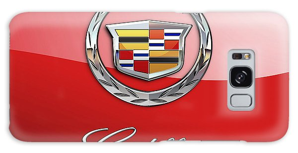 Automotive Galaxy Case - Cadillac - 3 D Badge On Red by Serge Averbukh