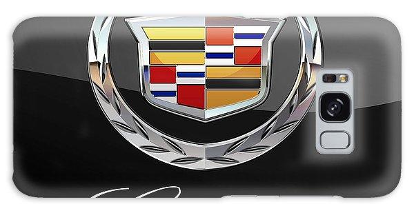 Automotive Galaxy Case - Cadillac - 3 D Badge On Black by Serge Averbukh