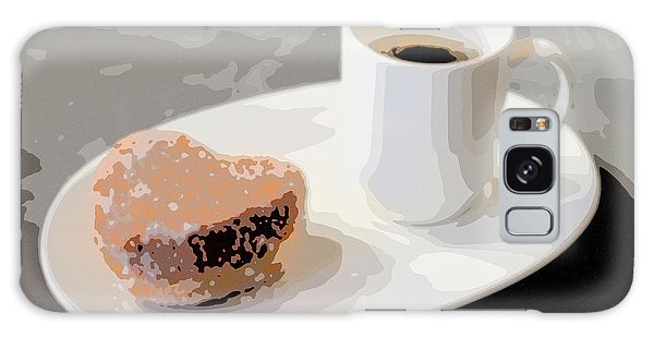 Cafe Americano And Heart Shaped Doughnut Galaxy Case