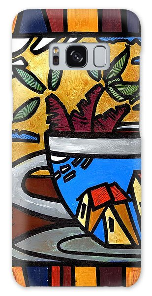 Galaxy Case featuring the painting Cafe Caribe  by Oscar Ortiz