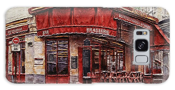 Cafe Des 2 Moulins- Paris Galaxy Case by Joey Agbayani