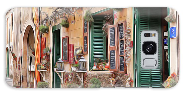 Galaxy Case featuring the painting Cafe by Harry Warrick