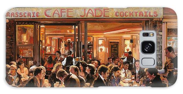 People Galaxy Case - Cafe Jade by Guido Borelli
