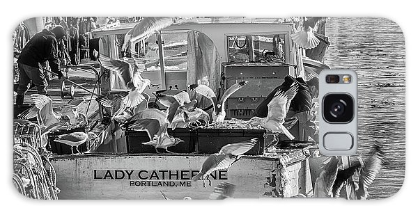 Cafe Lady Catherine Black And White Galaxy Case
