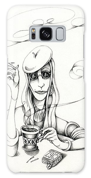Cafe Lady Galaxy Case
