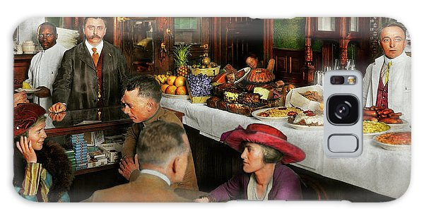 Cafe - Temptations 1915 Galaxy Case by Mike Savad