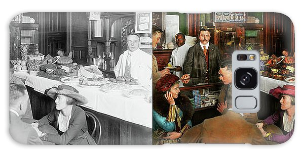 Cafe - Temptations 1915 - Side By Side Galaxy Case by Mike Savad