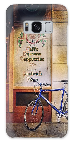 Caffe Expresso Bicycle Galaxy Case by Craig J Satterlee