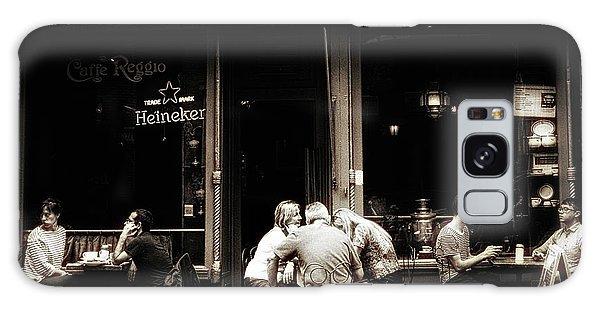 Street Cafe Galaxy Case - Caffe Reggio Scene by Jessica Jenney