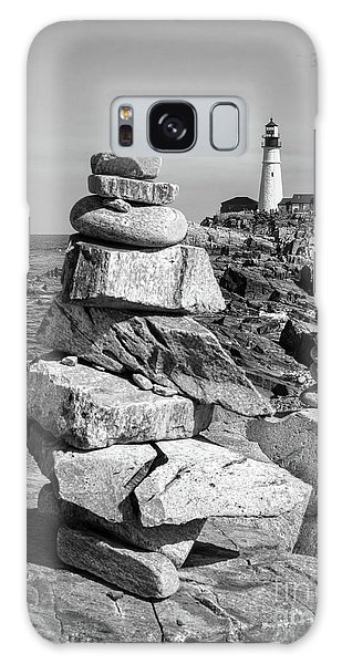 Cairn And Lighthouse  -56052-bw Galaxy Case