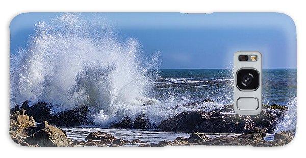 Wave Crashing On California Coast Galaxy Case