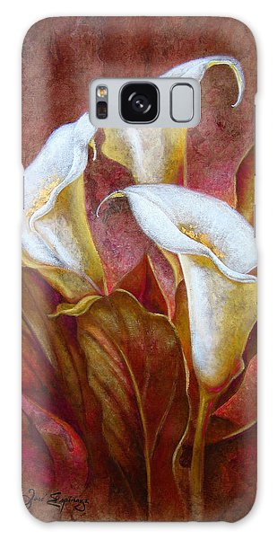 Cala Lillies Bouquet Galaxy Case by J- J- Espinoza