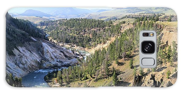 Calcite Springs Along The Bank Of The Yellowstone River Galaxy Case