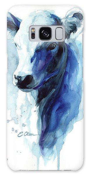 Calf In Blue Galaxy Case