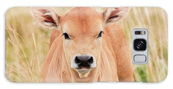 Calf In The High Grass Galaxy Case