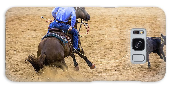 Prca Galaxy Case - Calf Roping At The Rodeo by Rene Triay Photography